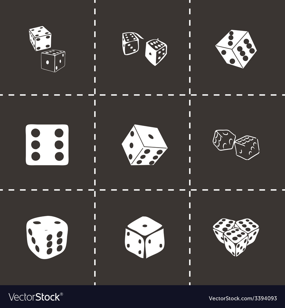 Dice icon set vector | Price: 1 Credit (USD $1)