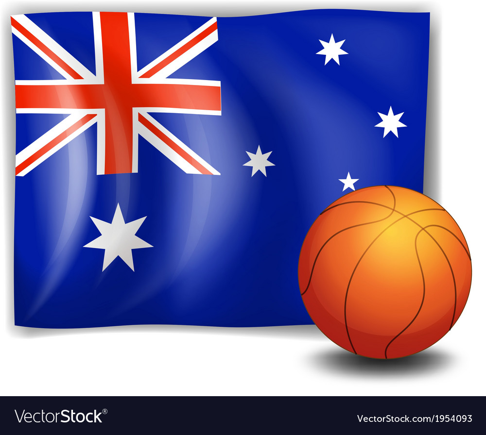 The flag of australia with a ball vector   Price: 1 Credit (USD $1)