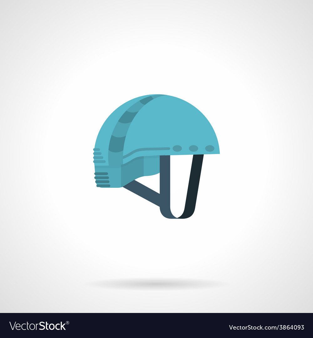 Flat color icon for climbing helmet vector | Price: 1 Credit (USD $1)