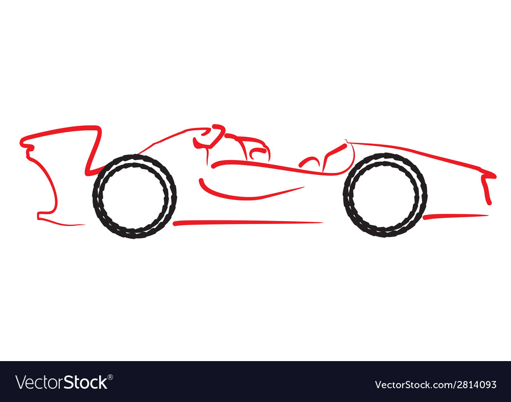 Formula 1 car logo vector | Price: 1 Credit (USD $1)