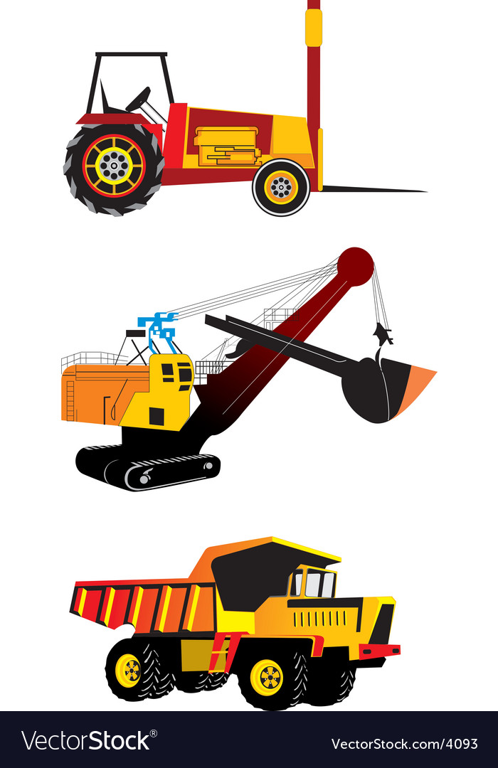 Heavy machinery vector | Price: 3 Credit (USD $3)