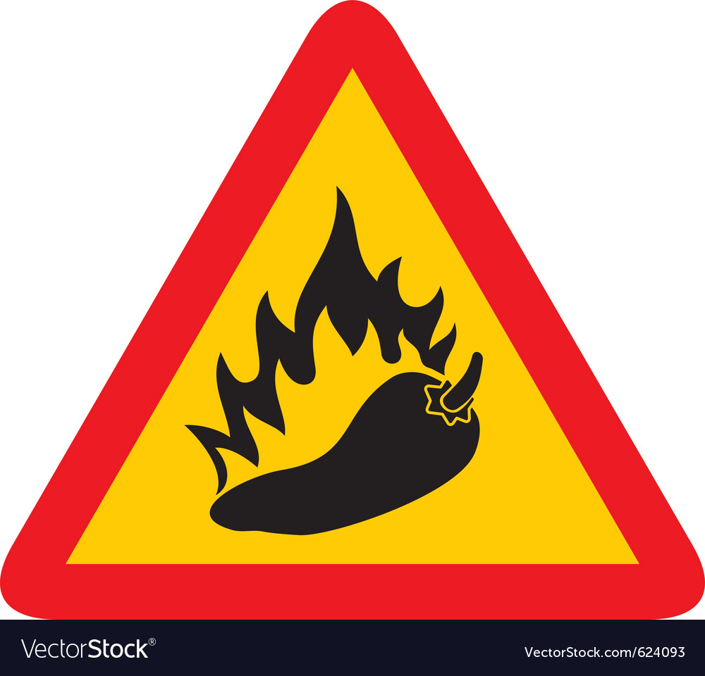 Hot pepper sign vector | Price: 1 Credit (USD $1)