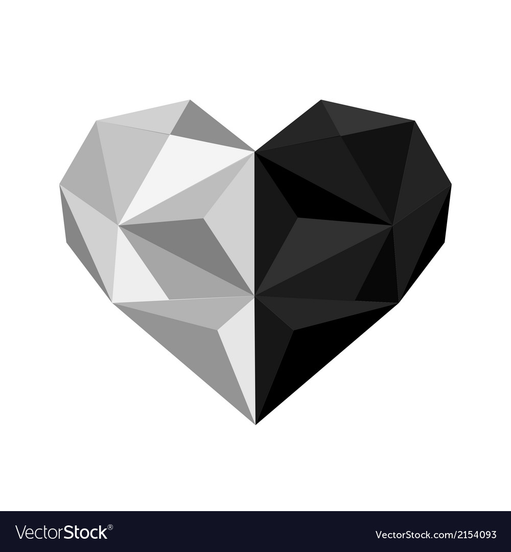 Ingyang origami heart vector | Price: 1 Credit (USD $1)