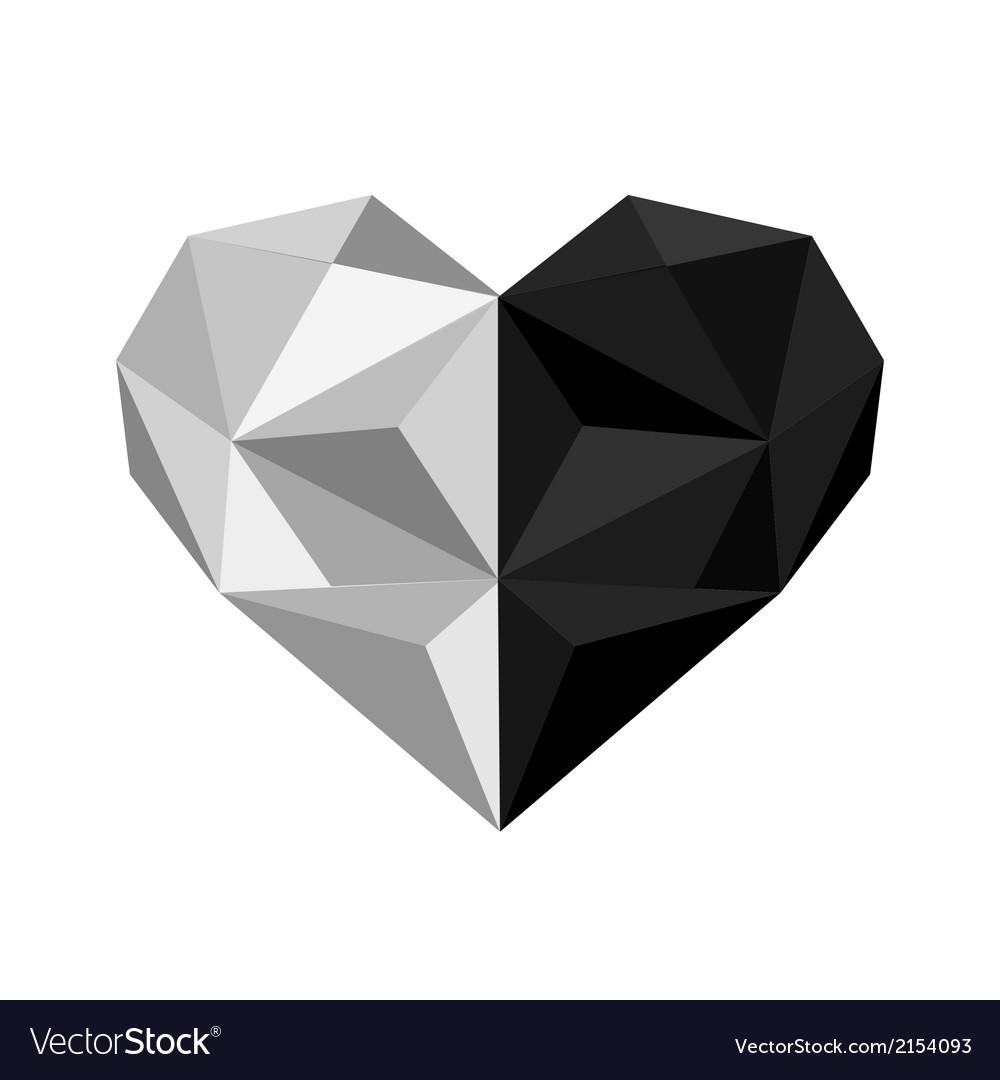 Ingyang origami heart vector | Price: 1 Credit (USD $1)