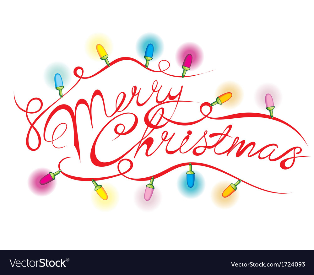 Merry christmas calligraphic lettering vector   Price: 1 Credit (USD $1)