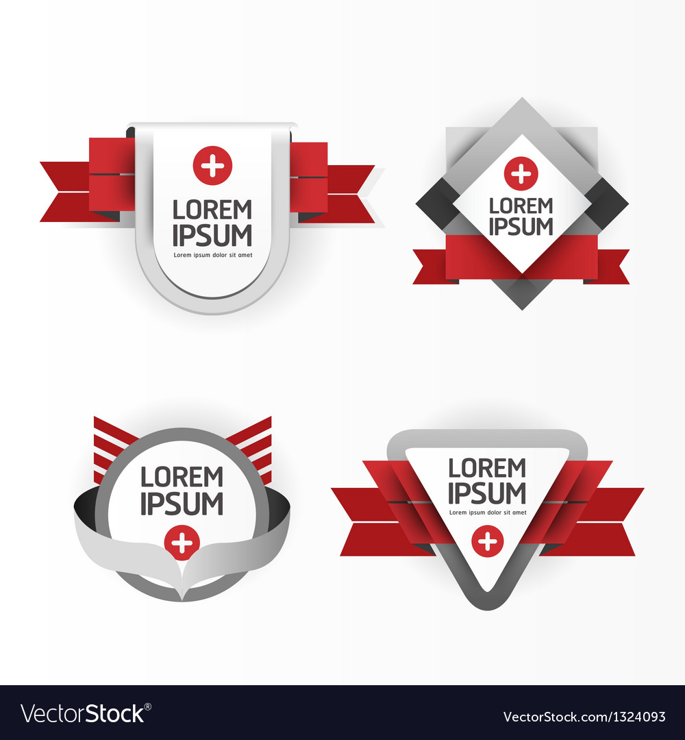 Modern design modern labels vector | Price: 1 Credit (USD $1)