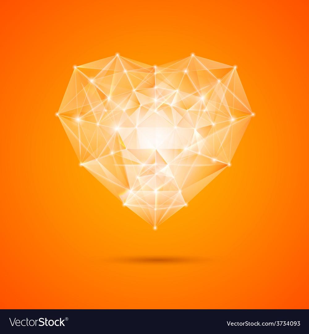 Orange heart vector | Price: 1 Credit (USD $1)