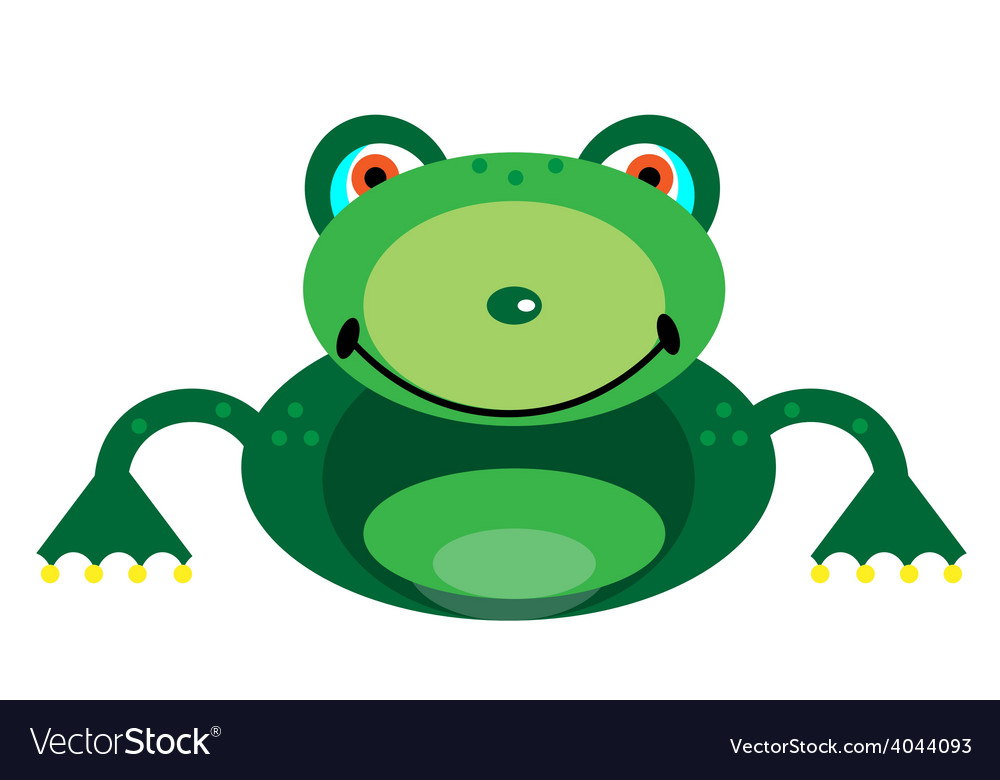 Picture of a smiling frog vector | Price: 1 Credit (USD $1)