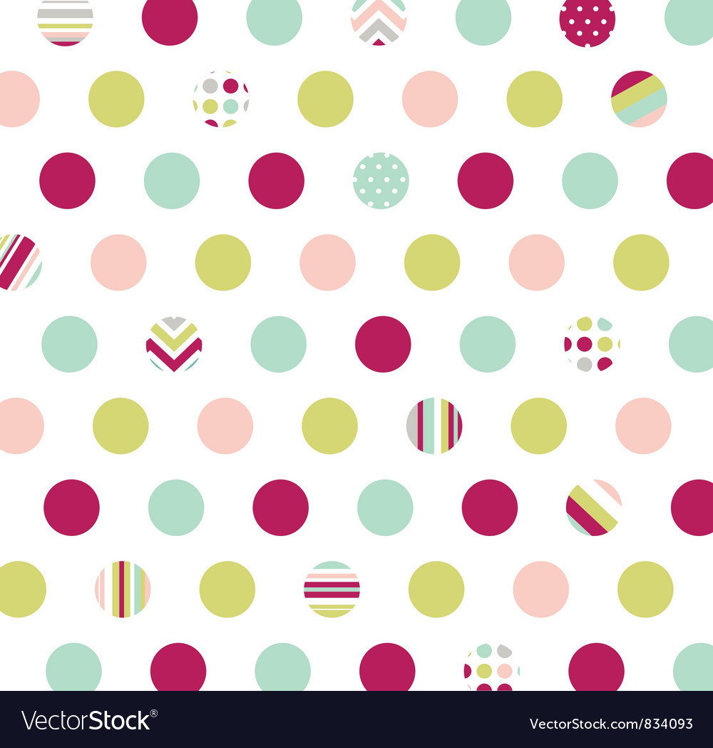 Polka dot fabric wallpaper vector | Price: 1 Credit (USD $1)