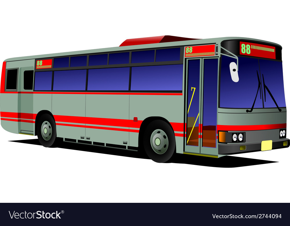 Al 0542 city bus 01 vector | Price: 1 Credit (USD $1)