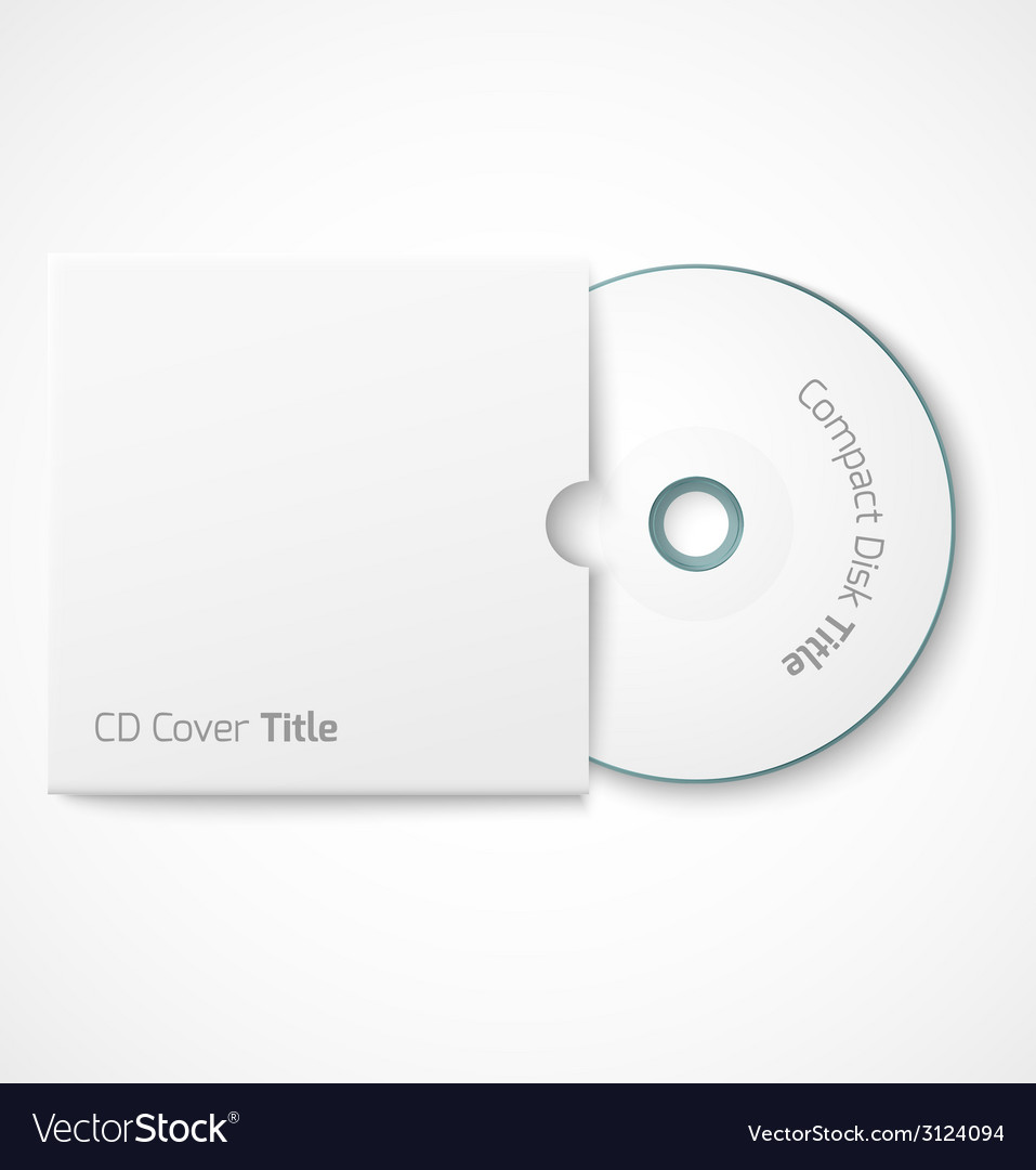 Blank white compact disk with cover mock up vector | Price: 1 Credit (USD $1)