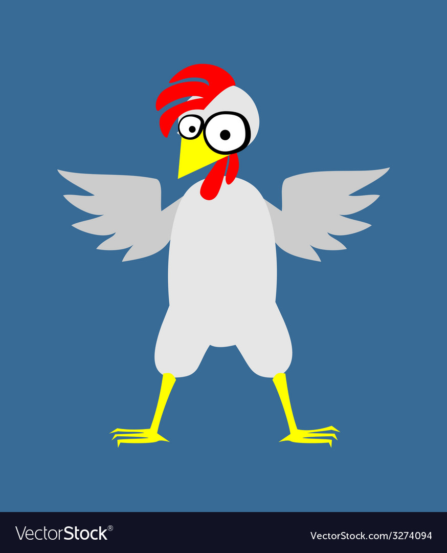 Chicken color vector | Price: 1 Credit (USD $1)