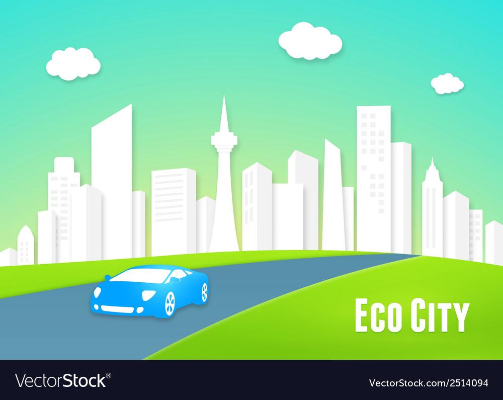 Eco city concept vector | Price: 1 Credit (USD $1)