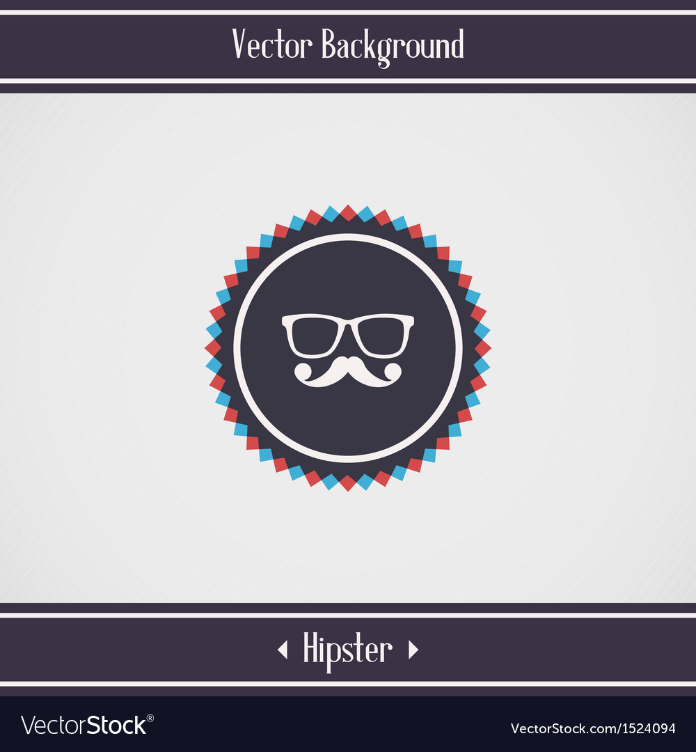 Hipster glasses and mustache vector | Price: 1 Credit (USD $1)