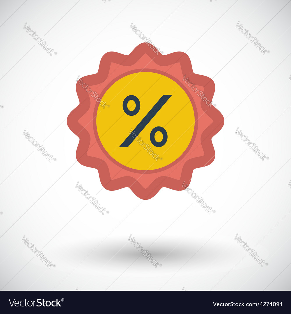 Percent label vector | Price: 1 Credit (USD $1)