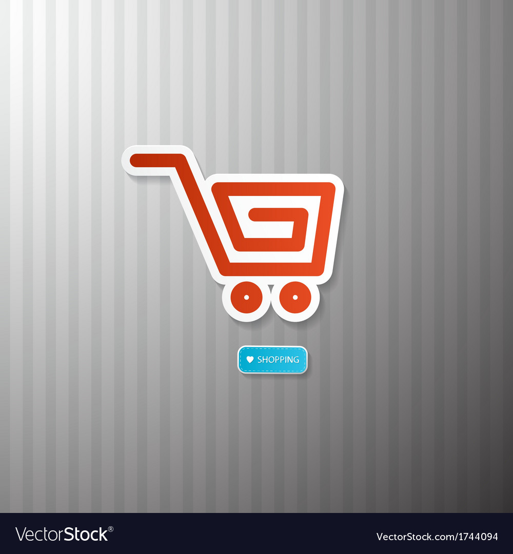 Shopping cart basket symbol vector | Price: 1 Credit (USD $1)