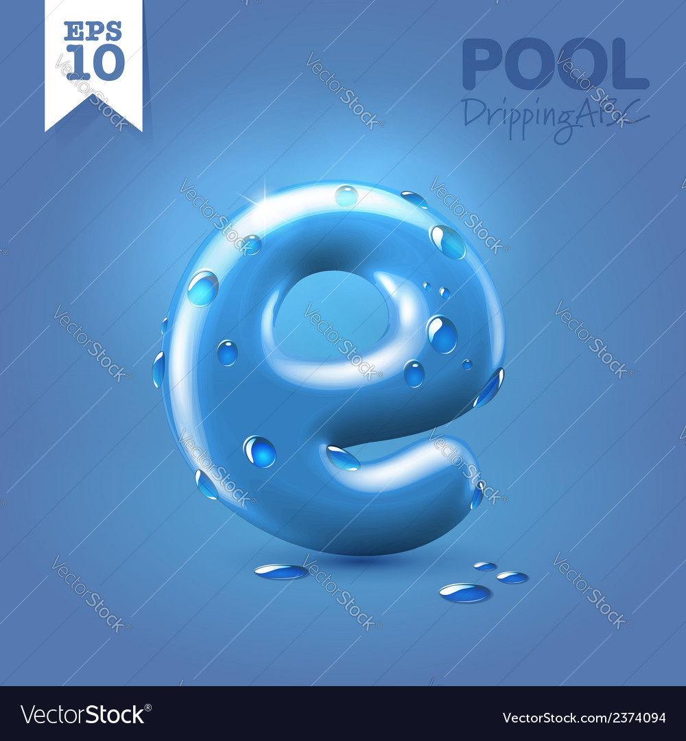 Wet blue glossy font vector | Price: 1 Credit (USD $1)