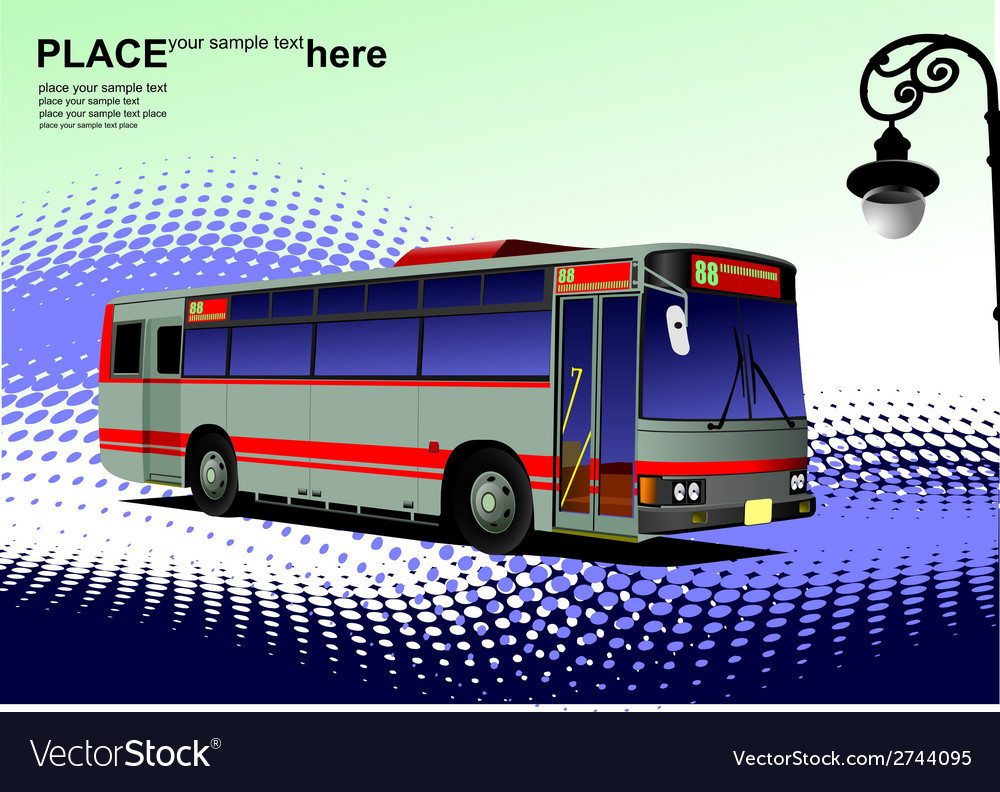 Al 0542 city bus 02 vector | Price: 1 Credit (USD $1)