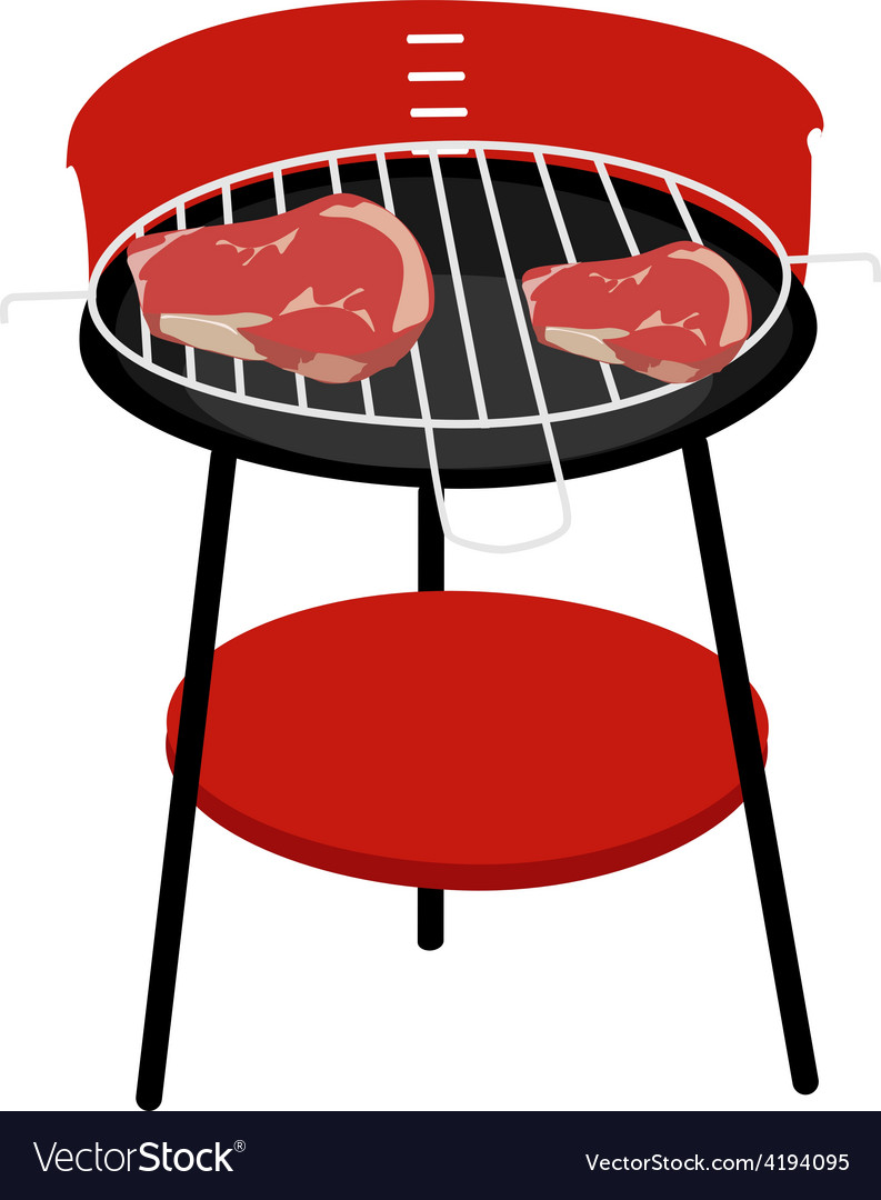 Barbeceu grill and steaks vector | Price: 1 Credit (USD $1)