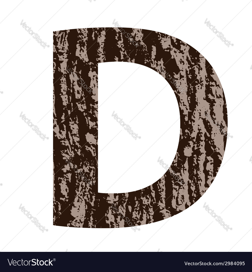 Bark letter d vector | Price: 1 Credit (USD $1)