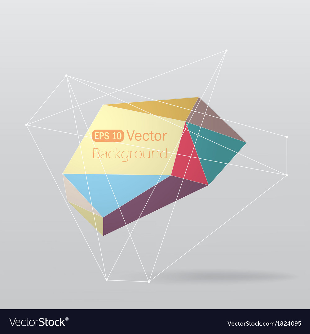 Colorful geometrical background with lines vector | Price: 1 Credit (USD $1)