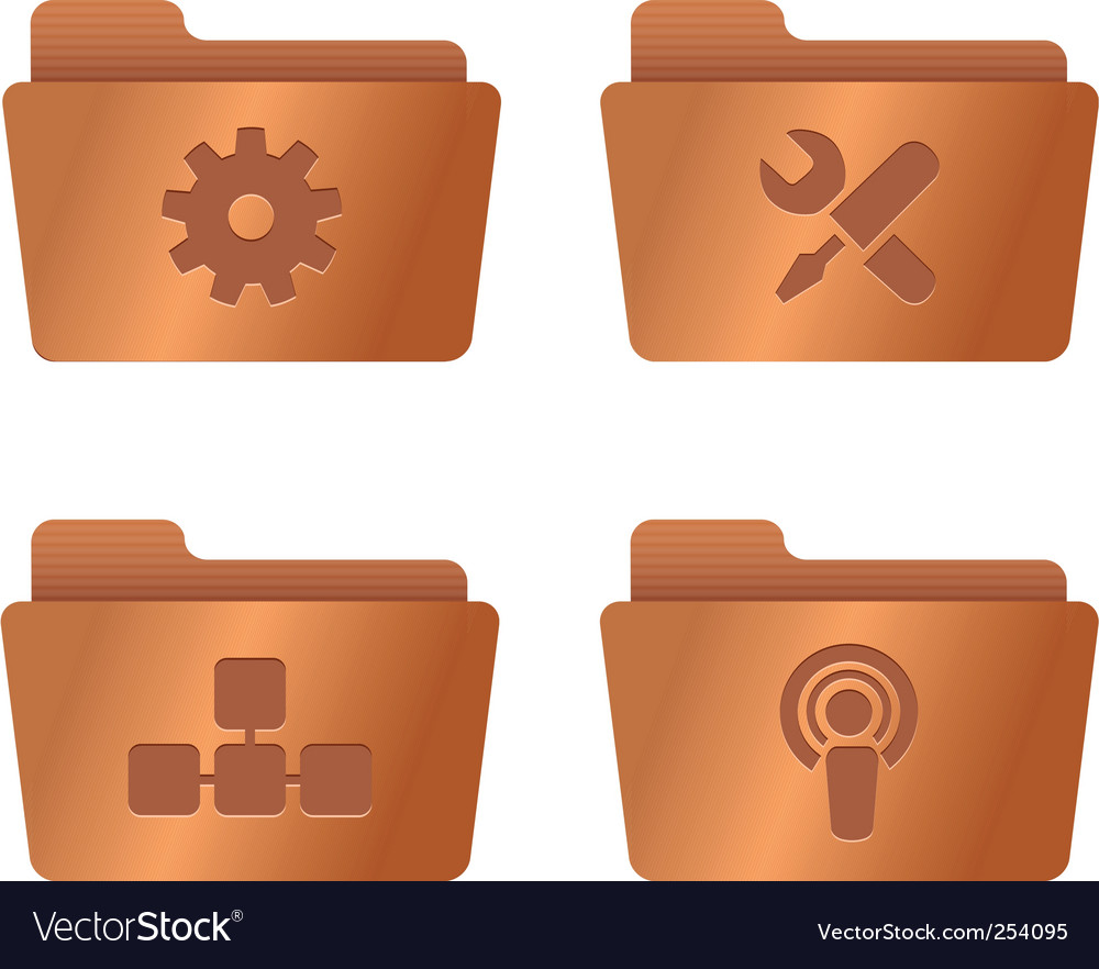 Copper folders internet vector | Price: 1 Credit (USD $1)