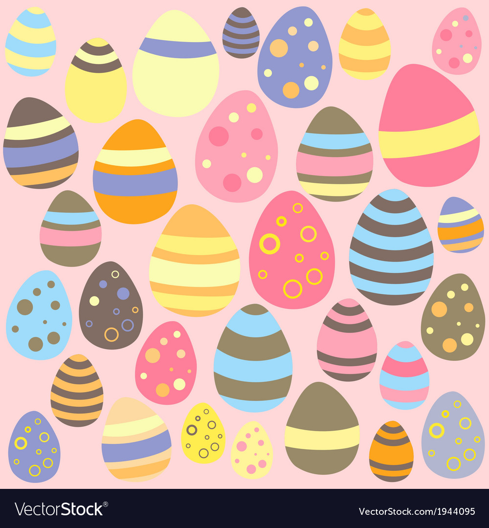 Easter pink seamless texture with eggs vector | Price: 1 Credit (USD $1)