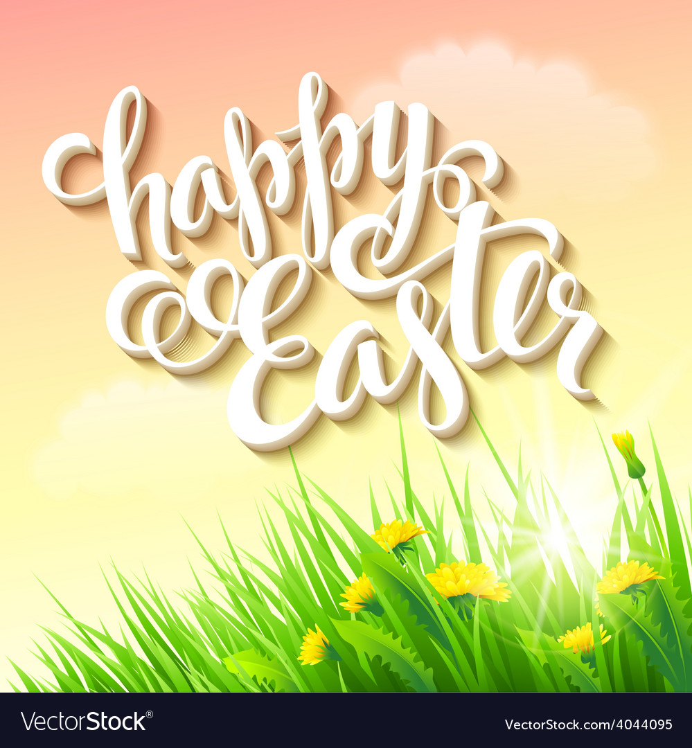 Easter poster vector | Price: 3 Credit (USD $3)