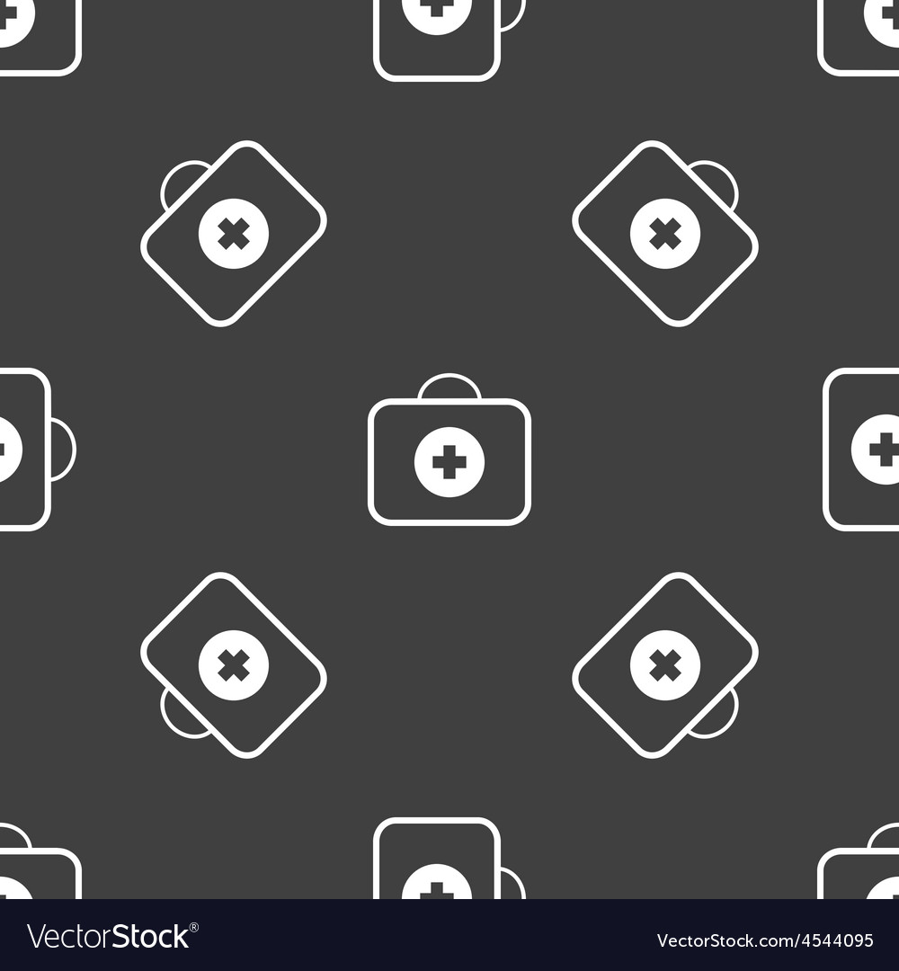 First aid kit pattern vector | Price: 1 Credit (USD $1)