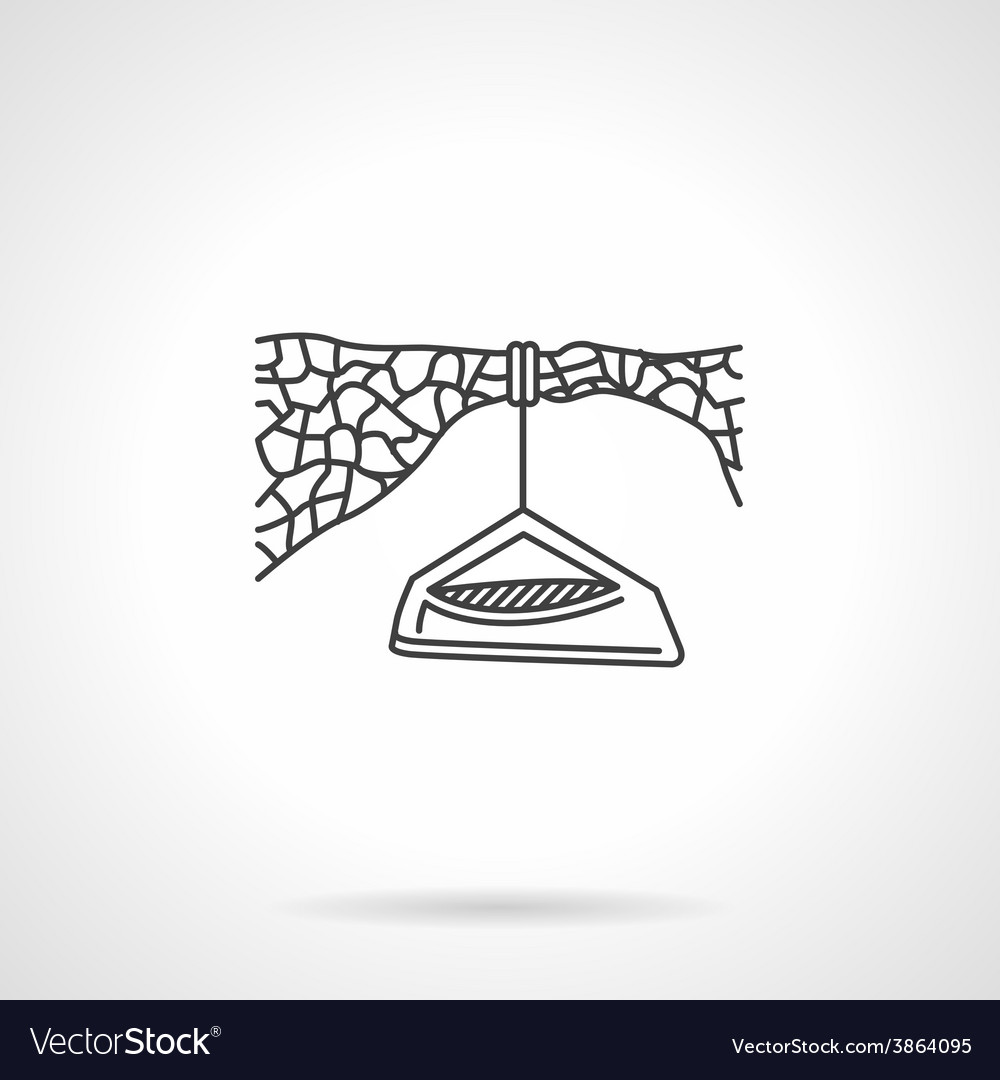 Flat line icon for hanging camp vector | Price: 1 Credit (USD $1)