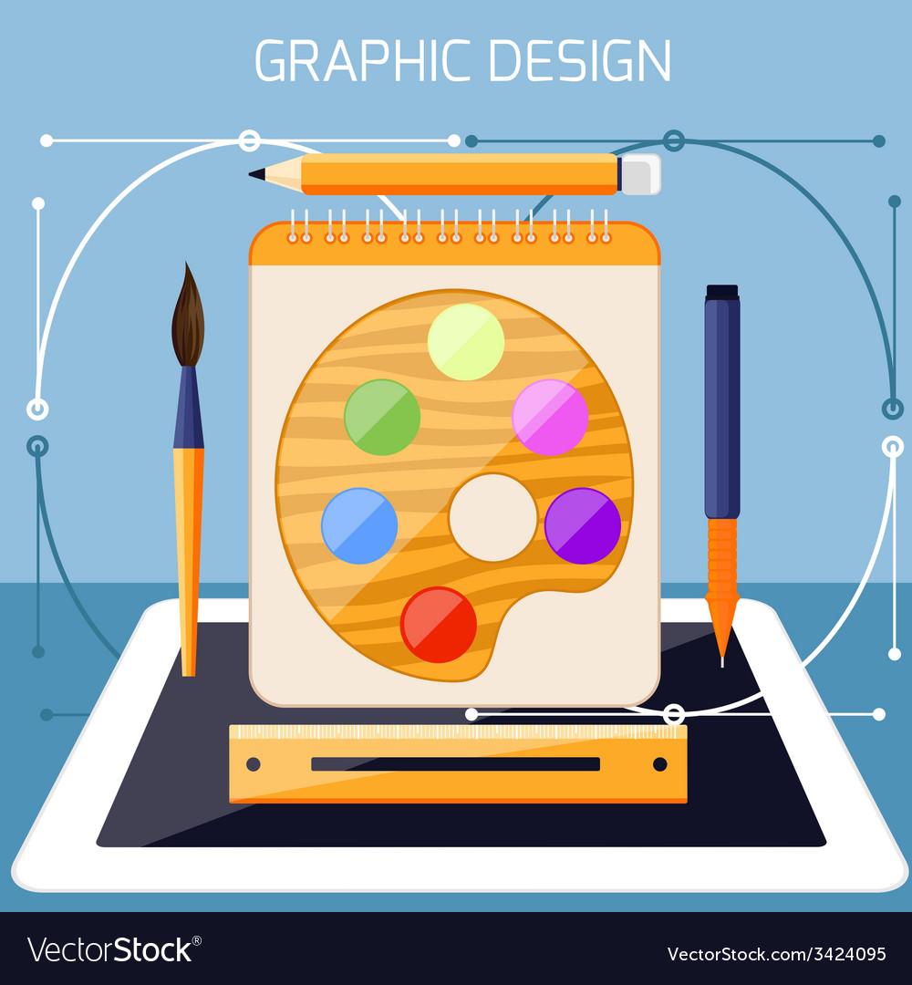 Graphic design and designer tools concept vector | Price: 1 Credit (USD $1)