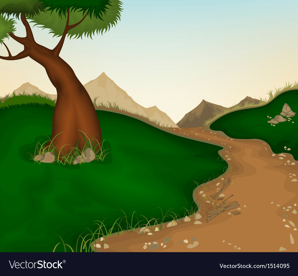 Landscape and nature background vector | Price: 1 Credit (USD $1)
