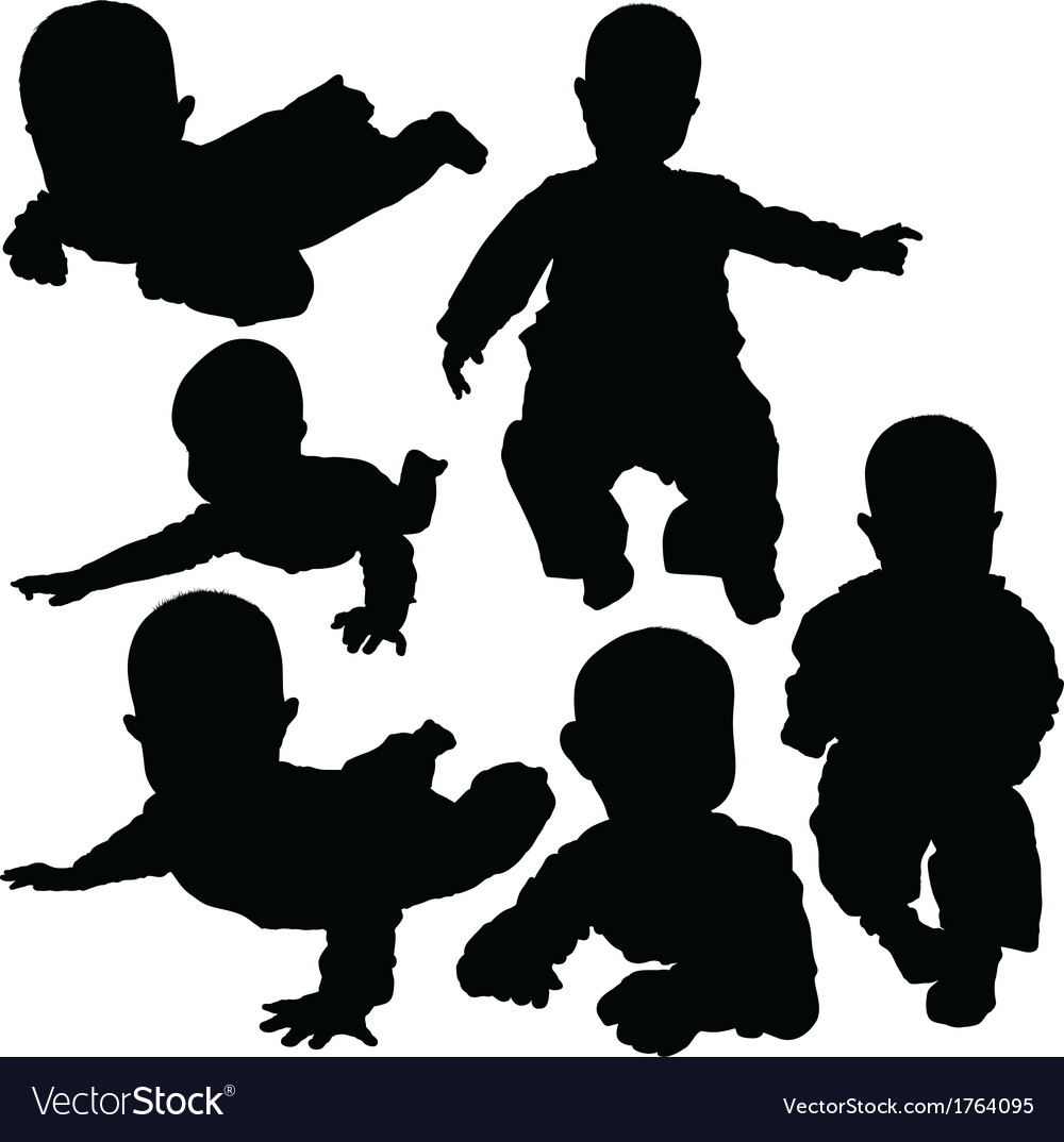 Newborn silhouettes vector | Price: 1 Credit (USD $1)