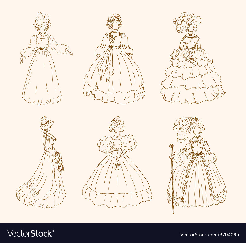 Old fashioned woman design vector | Price: 1 Credit (USD $1)