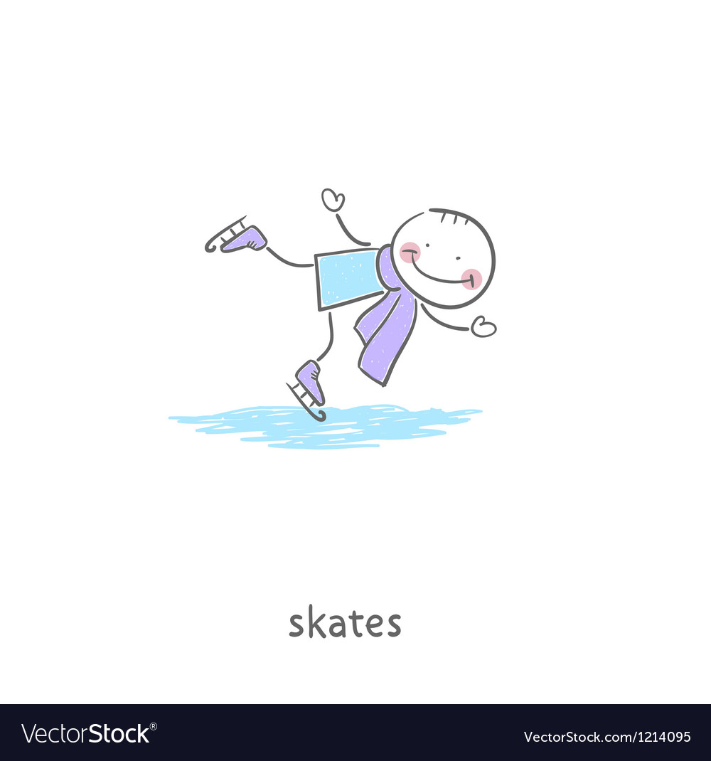 People skating on the ice vector | Price: 1 Credit (USD $1)