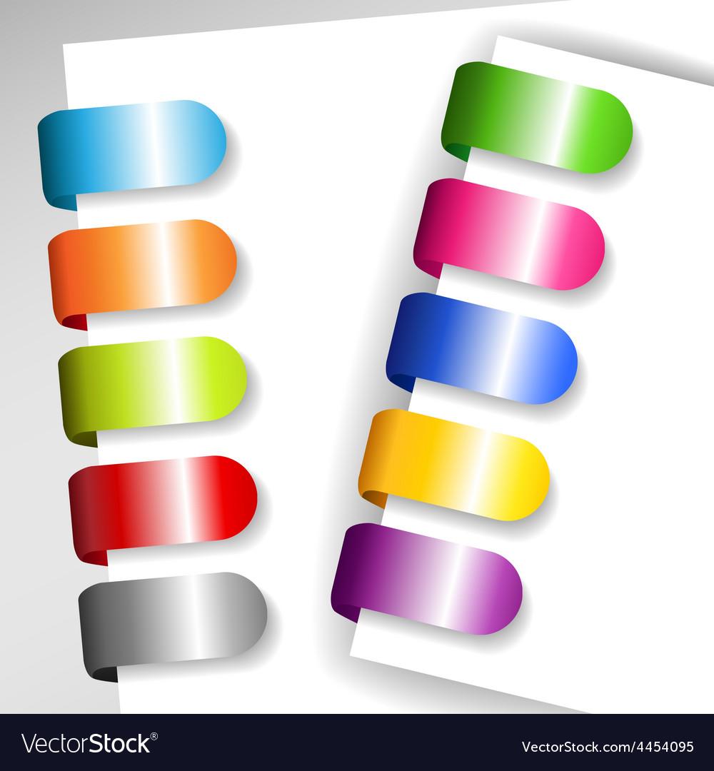 Set of metallic paper tags vector | Price: 1 Credit (USD $1)
