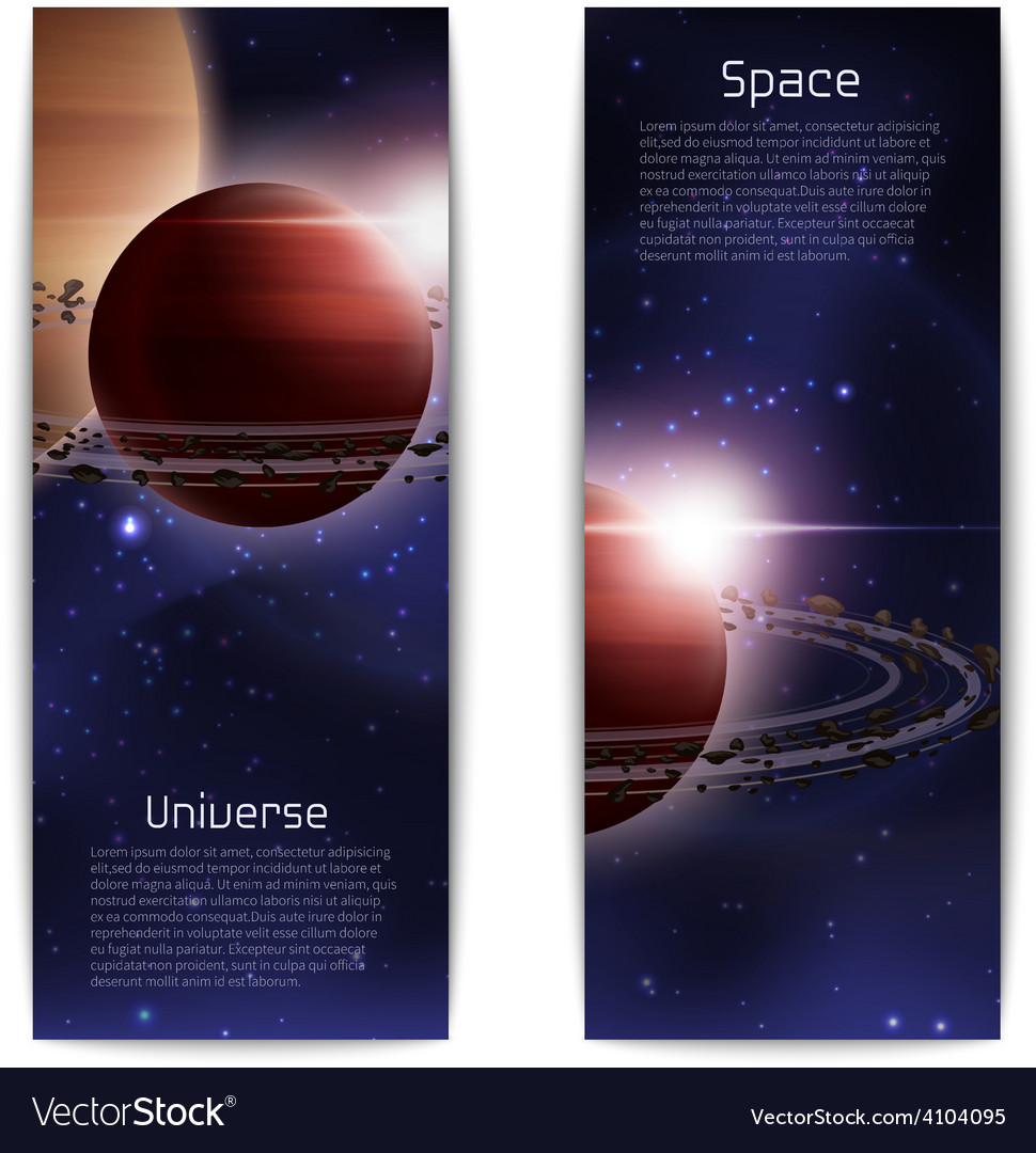 Space banners vertical vector | Price: 1 Credit (USD $1)