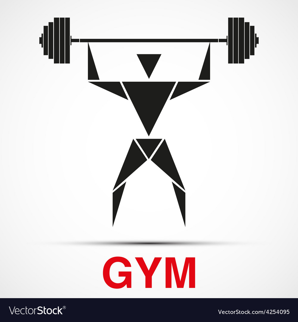 Workout logo with triangle man vector | Price: 1 Credit (USD $1)