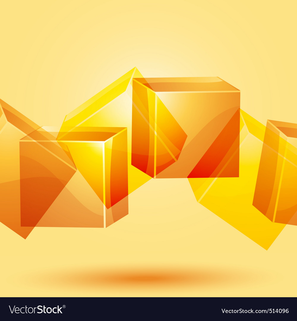3d cube background vector