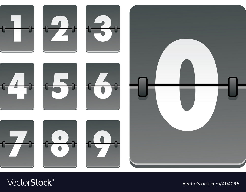Analog clock numbers vector | Price: 1 Credit (USD $1)