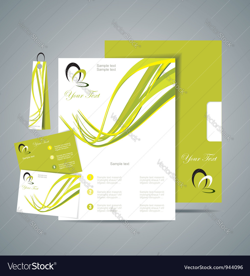 Corporate identity template vector | Price: 1 Credit (USD $1)