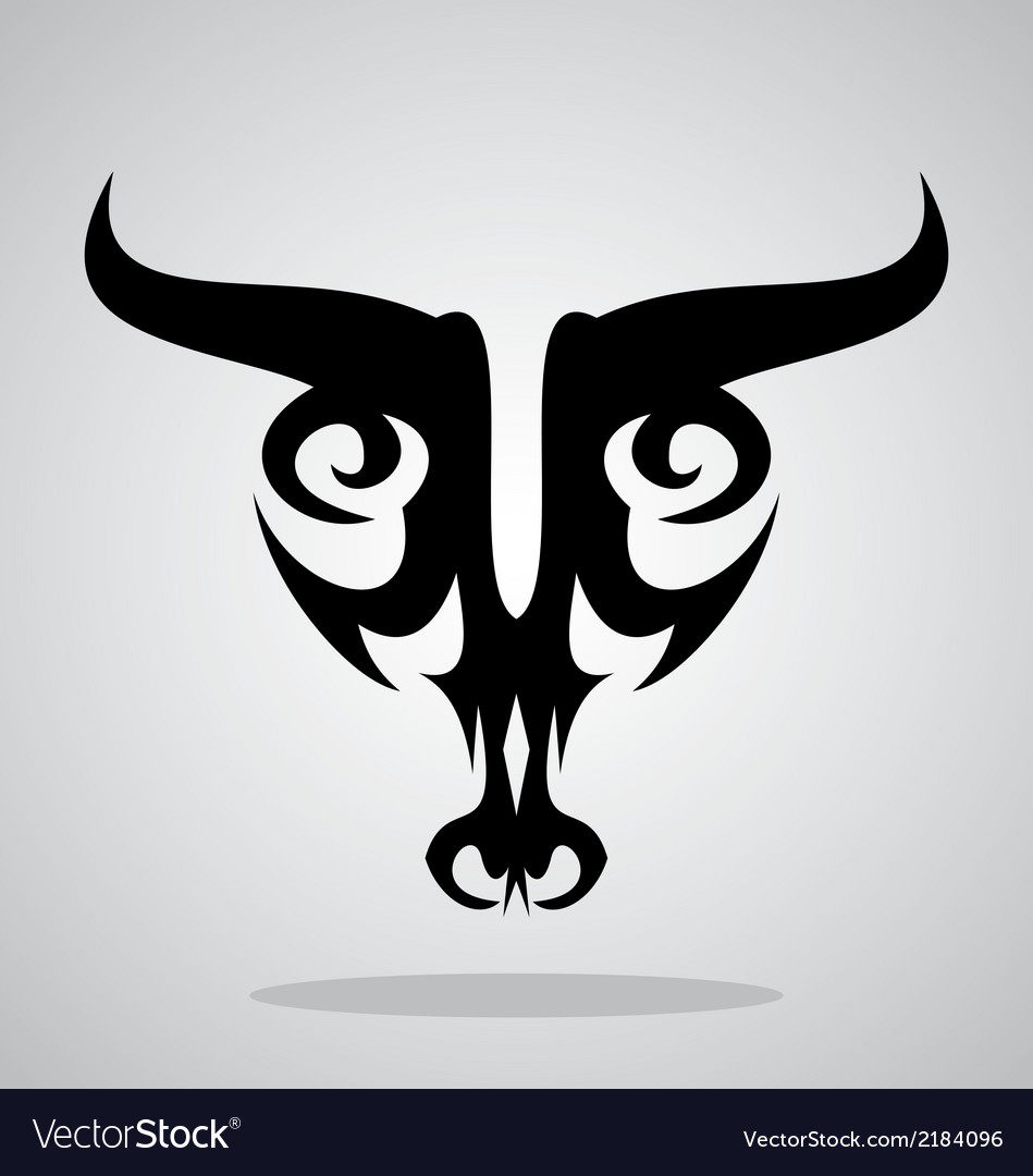 Cow head tribal vector | Price: 1 Credit (USD $1)