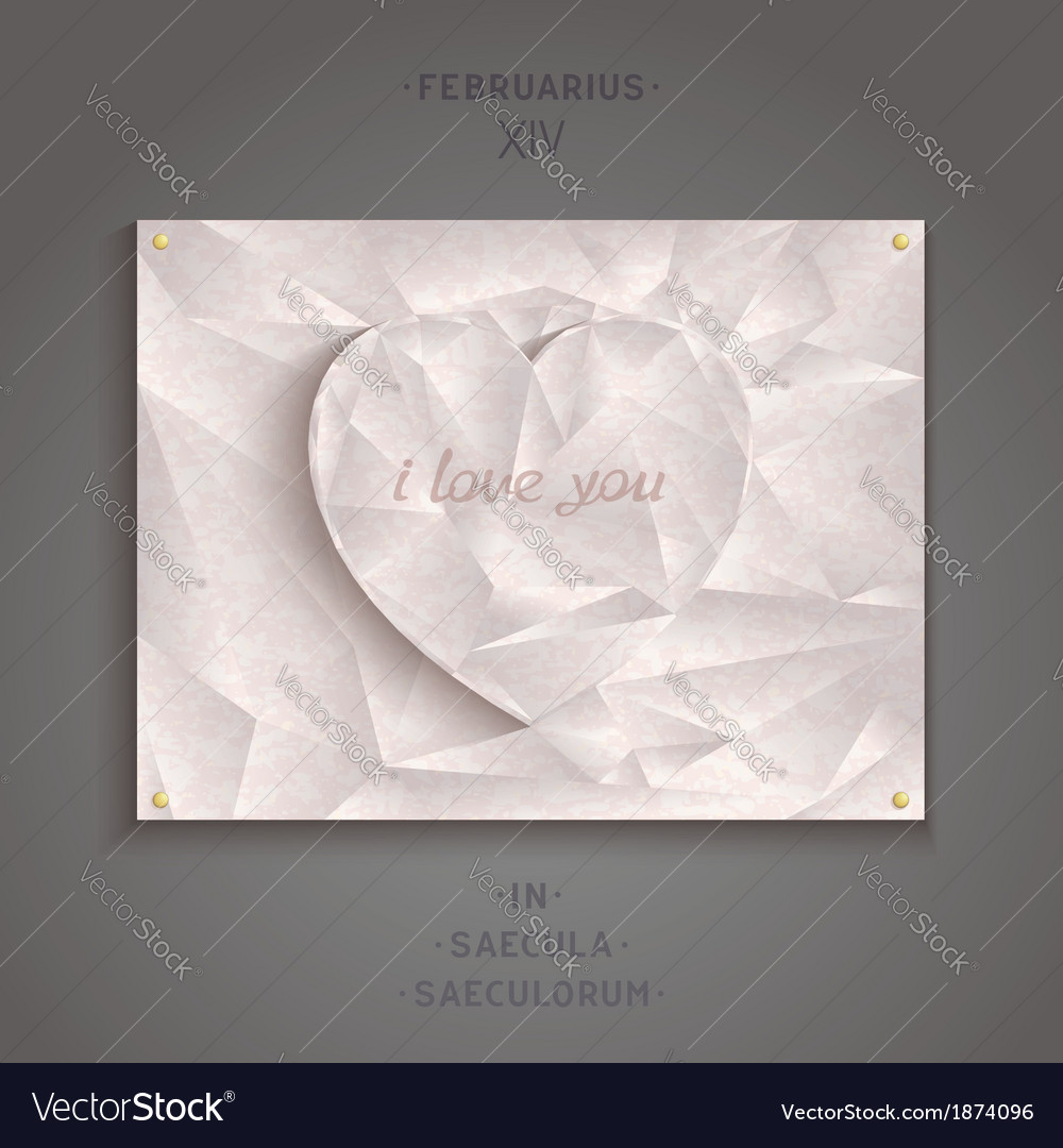 Geometric heart of antique marble vector   Price: 1 Credit (USD $1)