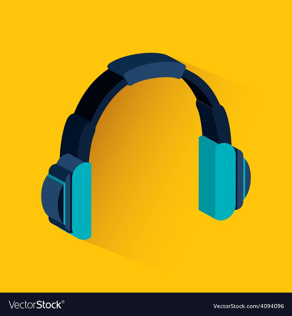 Headphone icon vector | Price: 1 Credit (USD $1)