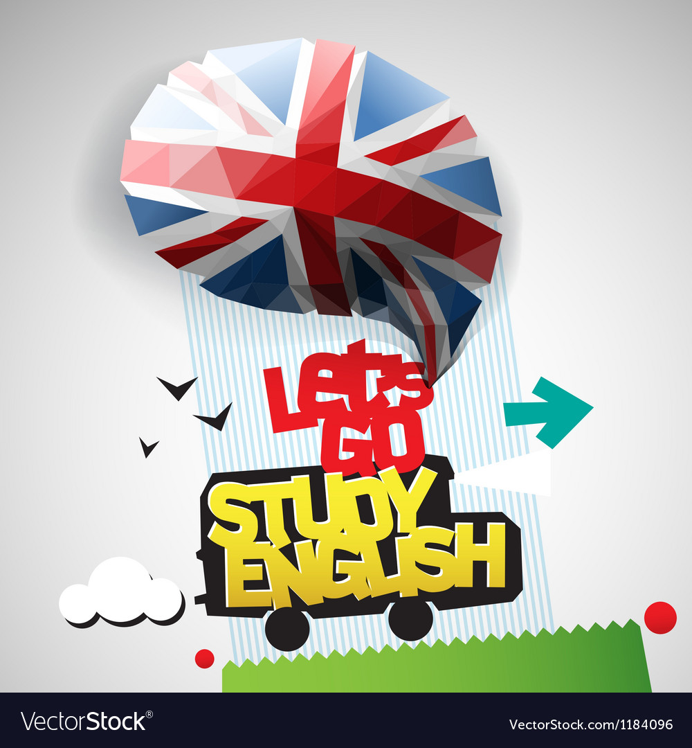 Lets go study english background vector | Price: 1 Credit (USD $1)
