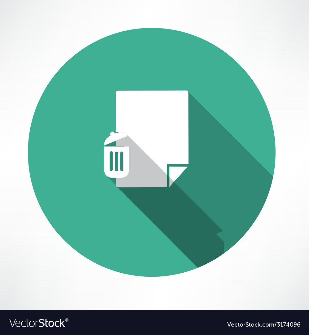 Recycle and paper icon vector | Price: 1 Credit (USD $1)
