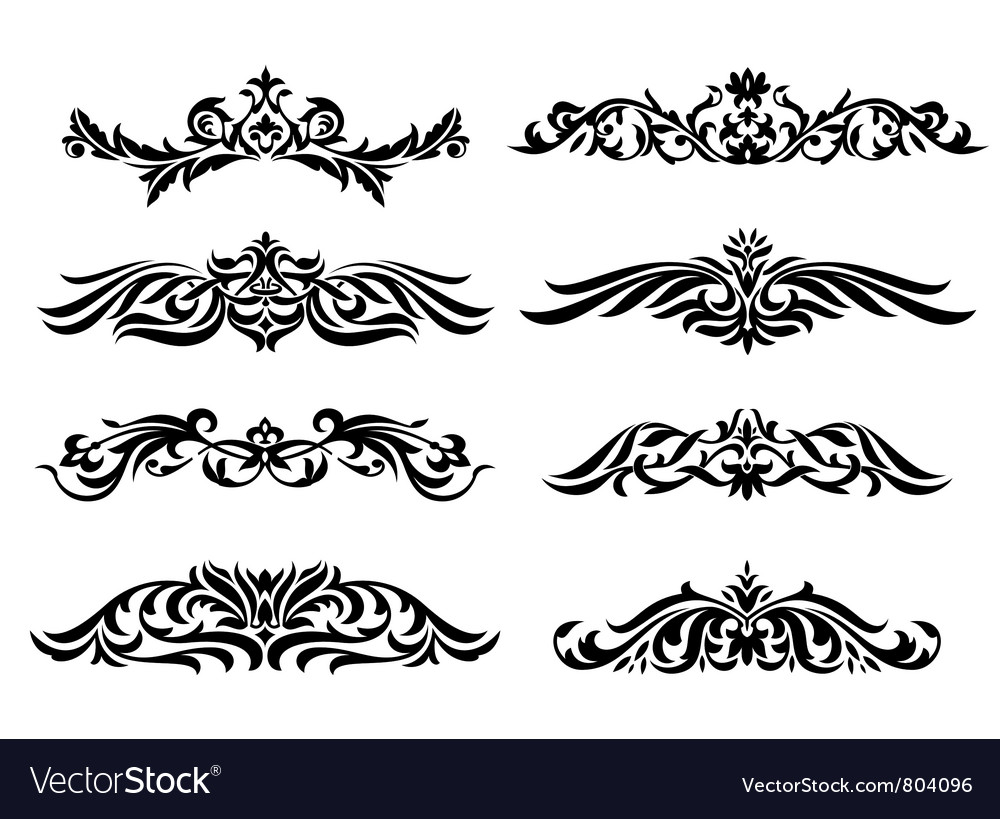 Set of design vintage elements vector | Price: 1 Credit (USD $1)
