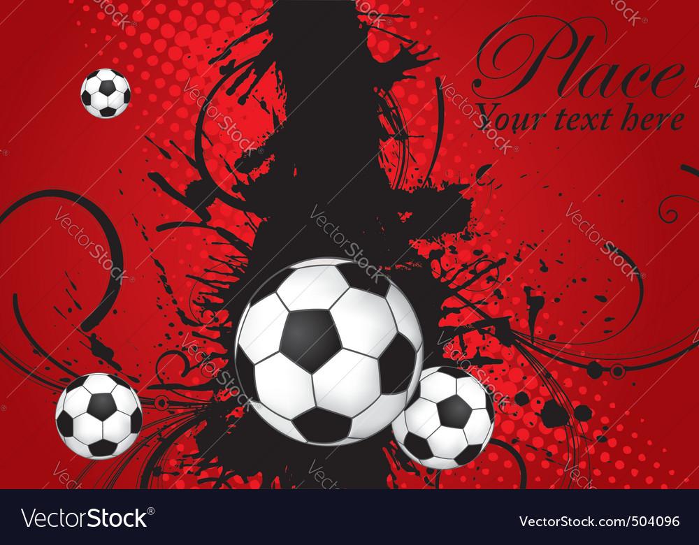 Soccer ball theme vector | Price: 1 Credit (USD $1)
