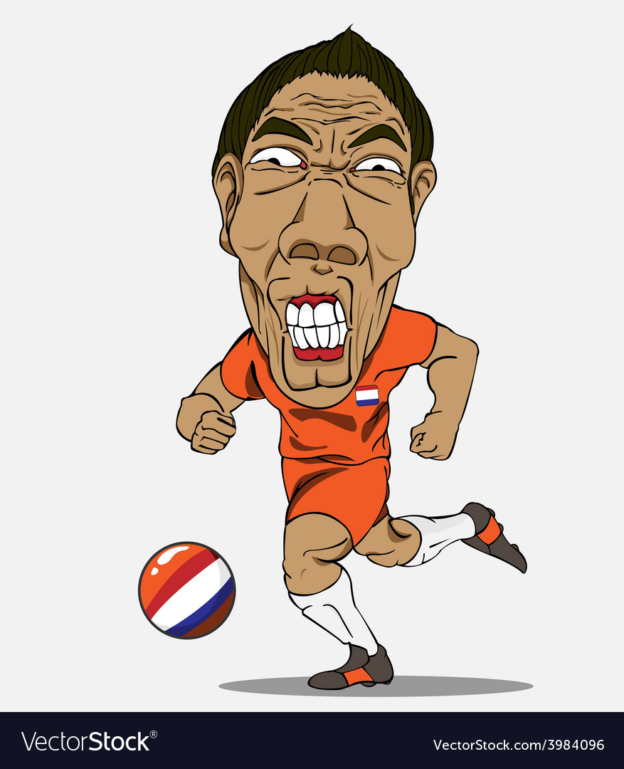 Soccer player netherland vector | Price: 1 Credit (USD $1)