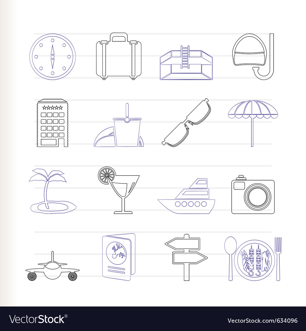 Trip and tourism icons vector | Price: 1 Credit (USD $1)